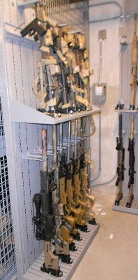 Combat Weapon Shelving Armory Cage
