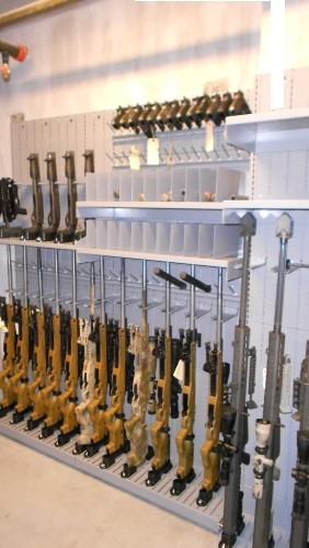 Combat Weapon Shelving Armory