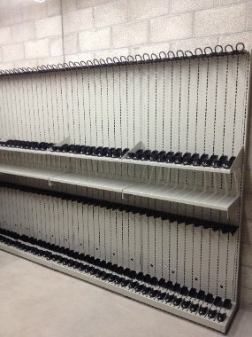 Combat Weapon Shelving in weapon evidence vault