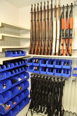 Weapon Shelving installed at PD