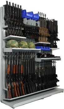 Combat Weapon Storage Rack storing M224 60mm lightweight mortars