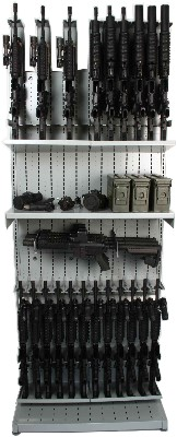 Combat Weapon Shelving, Expandable Weapon Racks