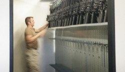 Mobile Shelving Weapon Rack Systems