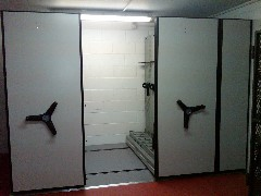 Mobile Weapon Shelving System