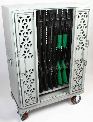 Secure Mobile Weapon Carts