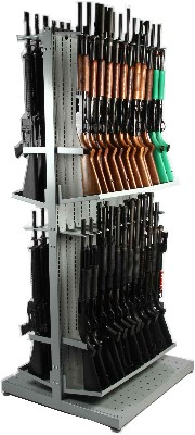 Police Weapon Storage Shelving Systems for shotguns, AR-15s and law enforcement weapon systems.